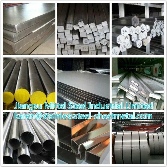 201 / 202 / 304 / 304L / 316 / 316L Square Stainless Steel Bar Customized